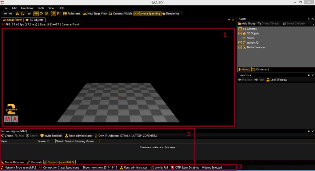 MA 3D session