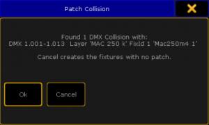 GrandMA2 patch collision